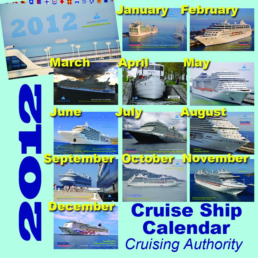 Great Cruise Ship Calendar For 2012  Cruising Authority